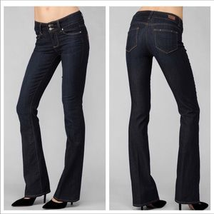 Paige Petite hidden hills boot jeans 25 dark wash